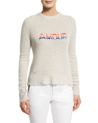 Delly Amour Cashmere Pullover Sweater, Beige