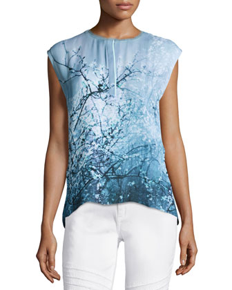 Decklyn Sleeveless Printed Blouse