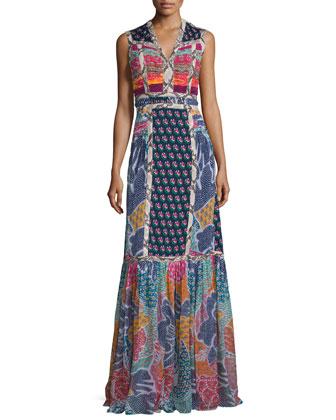 Amabelle Flower Power Dream Maxi Dress, Multicolor