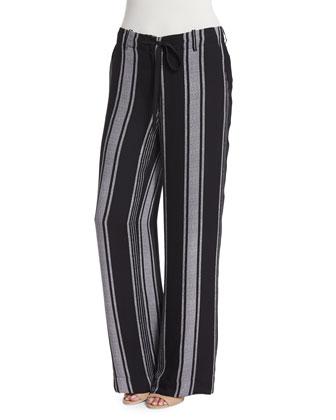 Esty Striped Silk Pants