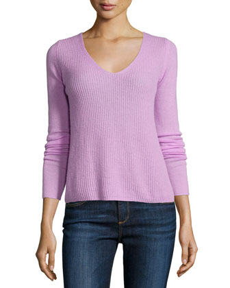 Luscinia Ribbed Cashmere Sweater