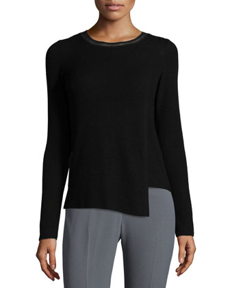 Anisia Long-Sleeve Asymmetric Sweater