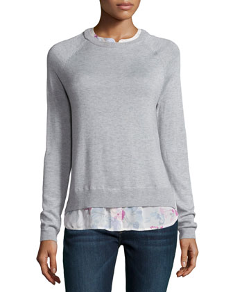 Zaan Long-Sleeve Jewel-Neck Sweater