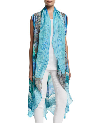 Multi-Wear Embellished Vest, Topkapi Sky