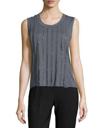 Jemima Sleeveless Embellished Blouse