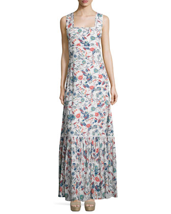 Dolce Flora Sleeveless Maxi Dress, Natural