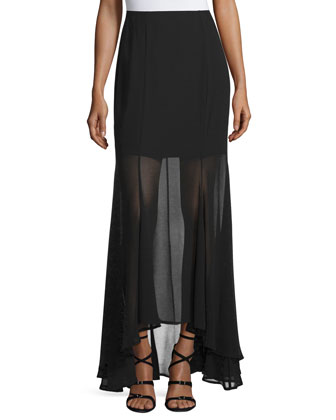 Blame-It-On-Me Maxi Skirt, Black