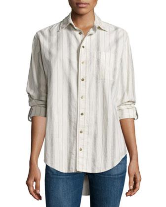 The Prep School Shirt, Thin Stripe