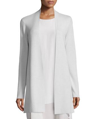 Long Washable Merino Wool Cardigan, Women's