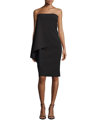 Paris Tailoring Column Dress, Black