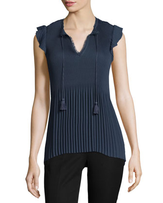 Jesse Sleeveless V-Neck Blouse, Stella