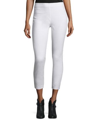 Simone Stretch Jersey Leggings, White