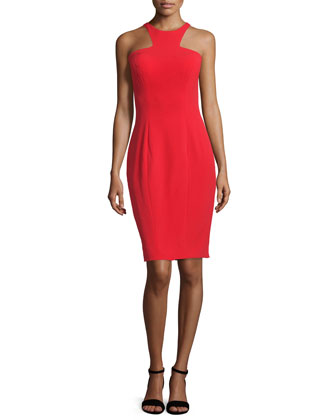 Sleeveless Cut-In Sheath Cocktail Dress