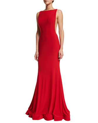 Sleeveless Low-Back Gown