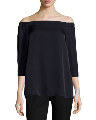 Joscla Off-Shoulder Modern Silk Top