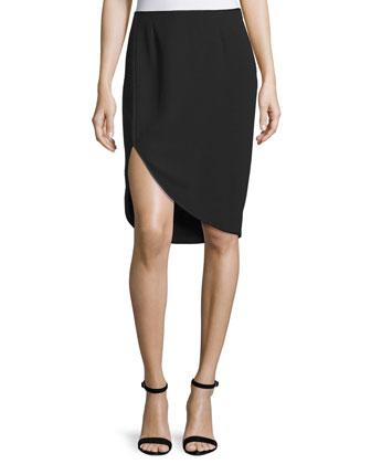 Cutaway Pencil Skirt, Black