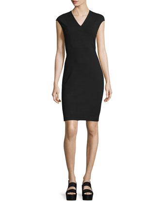 Bib-Front Sheath Dress