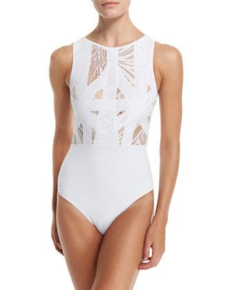 Elsa Lace & Lattice One-Piece Swimsuit