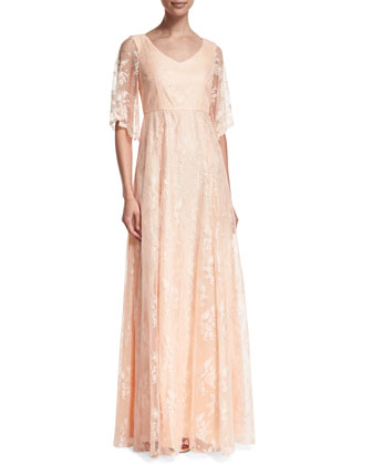 Madeline Floral Lace A-line Gown
