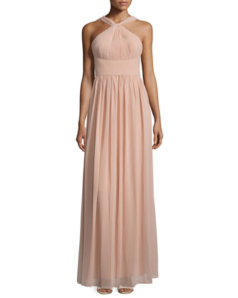 Hayley Halter Chiffon Gown