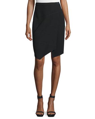 Minka Wrap Pencil Skirt, Black