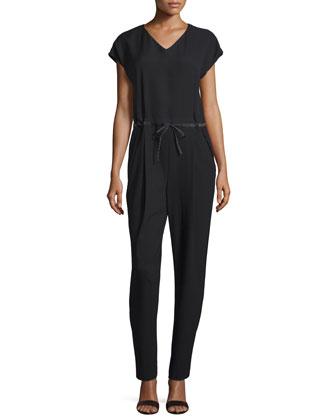 Columbia Drawstring-Waist Jumpsuit, Black