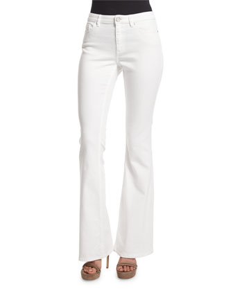 Janice Flare-Leg Jeans, White