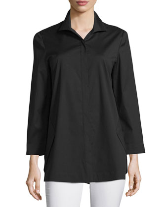 Marla Placket-Front Blouse