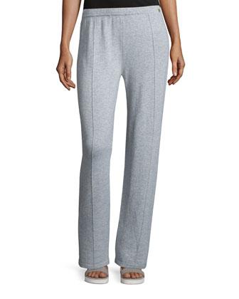 Wide-Leg Cashmere Pants, Flannel