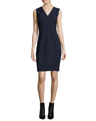 Gwenyth Sleeveless V-Neck Sheath Dress