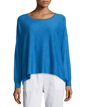 Featherweight Cashmere Boxy Top, Petite