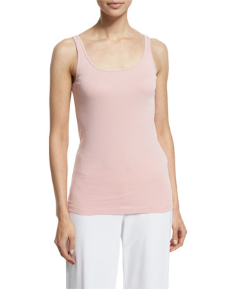 Scoop-Neck Long Slim Tank, Women's