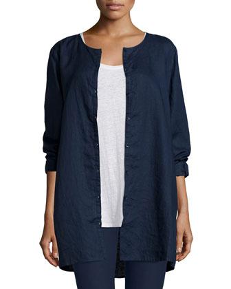 Organic Linen Long Shirt