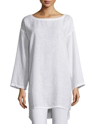 Organic Linen Long Tunic, Women's