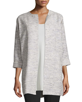 Woven Twist Long Jacket, Women's