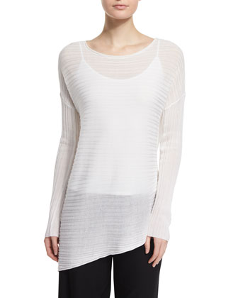 Variegated Asymmetric Tencel® Top, Petite
