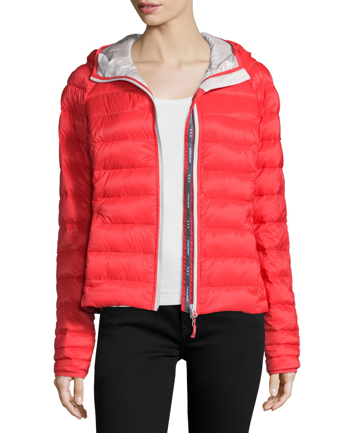 Women's Canada Goose' 'Brookvale' Hooded Quilted Down Coat, Size X