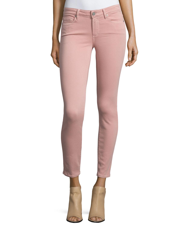 Verdugo Skinny Ankle Jeans, Soft Pink, Women's, Size: 28 - Paige Denim