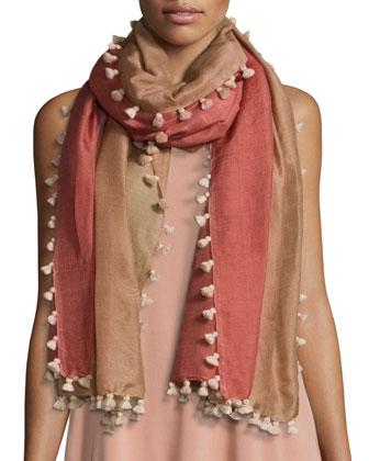 Fine Silk-Linen Drape-Front Cardigan, Petite