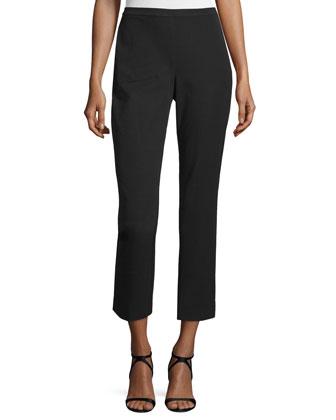 Long Silk Button-Front Blouse, Women's