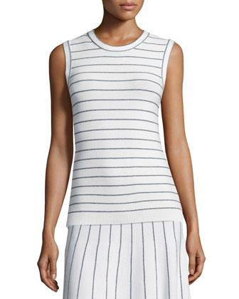 Kralla SL Prosecco Striped Sleeveless Top