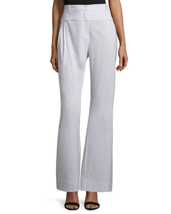 High-Waist Wide-Leg Flare Pants, Vapor
