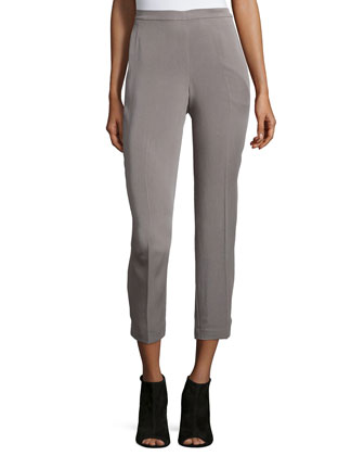 Lightweight Twill Ankle Pants, Women's