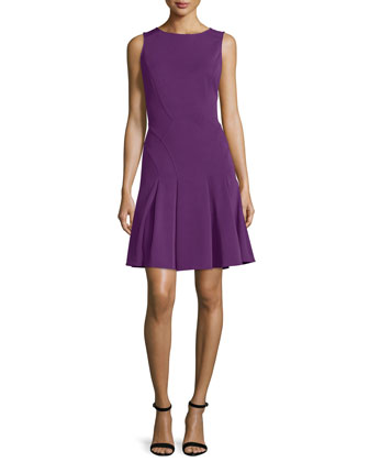 Juliet Sleeveless Fit-&-Flare Dress, Ultra Violet