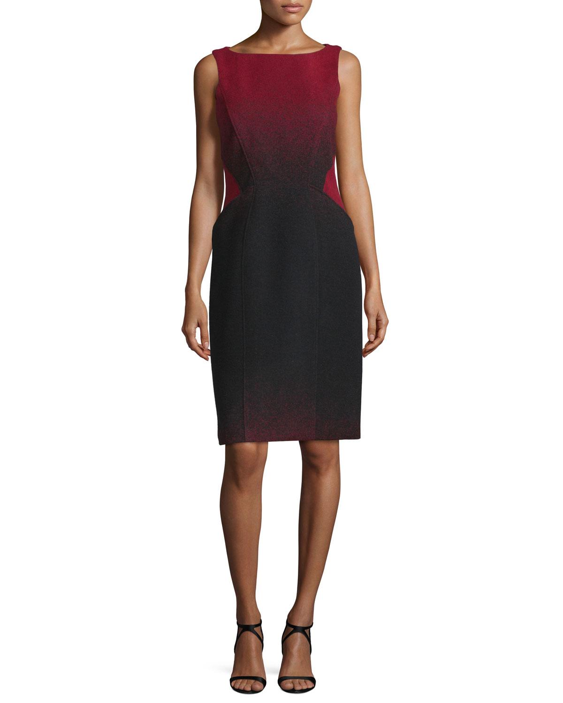 Channing Sleeveless Ombre Dress, Garnet Ombre, Women's, Size: 8 - ZAC Zac Posen