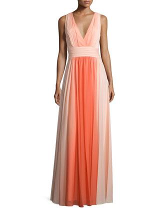 Sleeveless Ombre Long Dress, Glow Circular