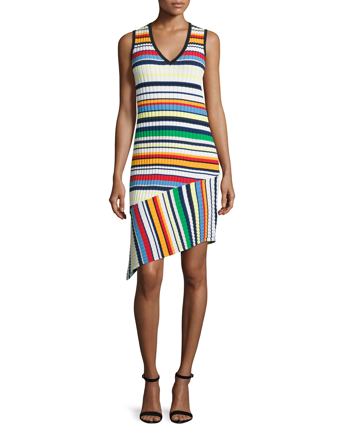 Directional Pop Stripe Dress, Size: L, Multi Colors - Milly