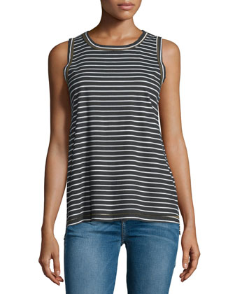 The Muscle Striped Tee, Reverse Oakland