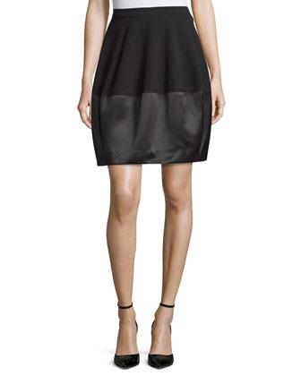 Combo Bubble Skirt, Black