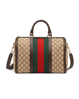 Gucci Vintage Web Medium Boston Bag